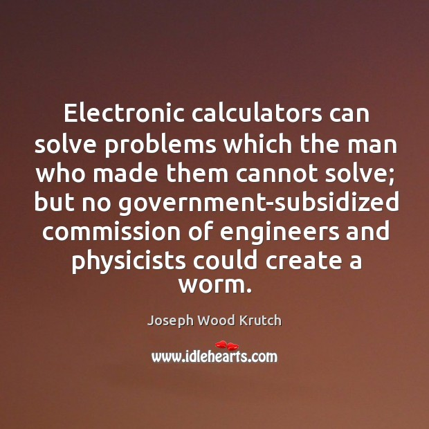 Electronic calculators can solve problems which the man who made them cannot solve Image