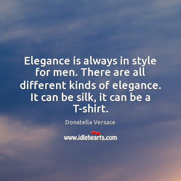 Image, Elegance is always in style for men. There are all different kinds