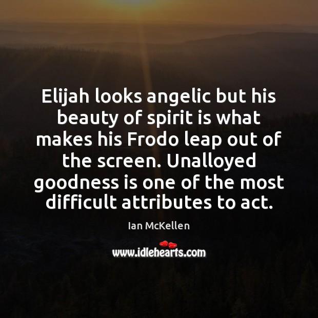 Elijah looks angelic but his beauty of spirit is what makes his Ian McKellen Picture Quote