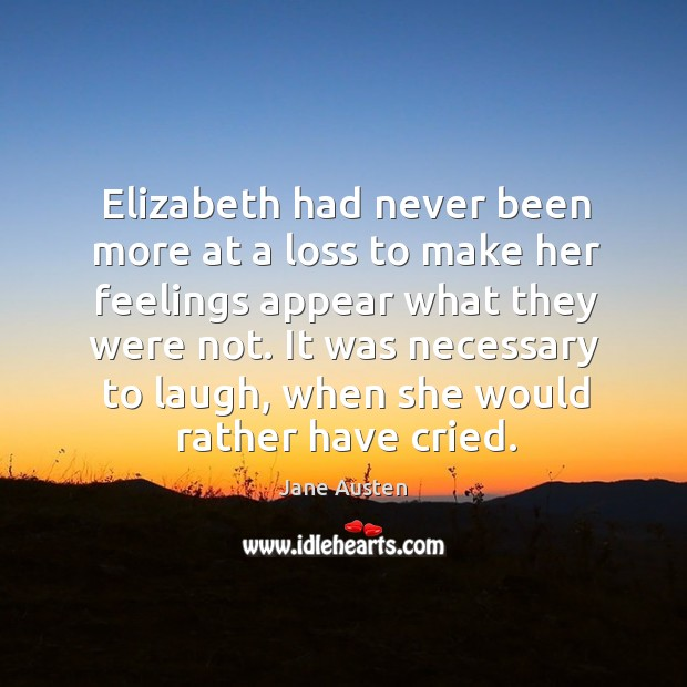 Image, Elizabeth had never been more at a loss to make her feelings