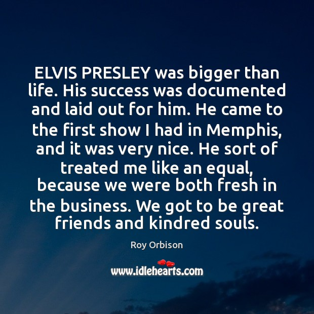 ELVIS PRESLEY was bigger than life. His success was documented and laid Image