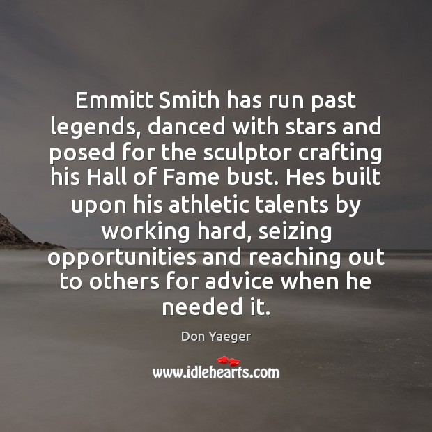 Image, Emmitt Smith has run past legends, danced with stars and posed for