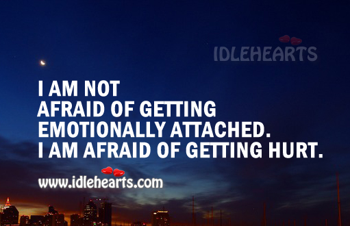 I am afraid of getting hurt Image