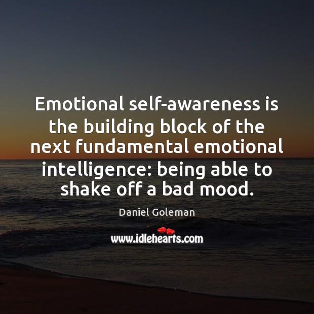 Emotional self-awareness is the building block of the next fundamental emotional intelligence: Image