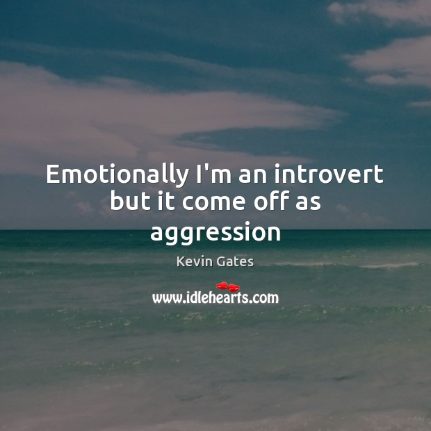 Emotionally I'm an introvert but it come off as aggression Image
