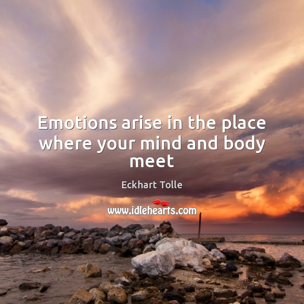 Emotions arise in the place where your mind and body meet Image