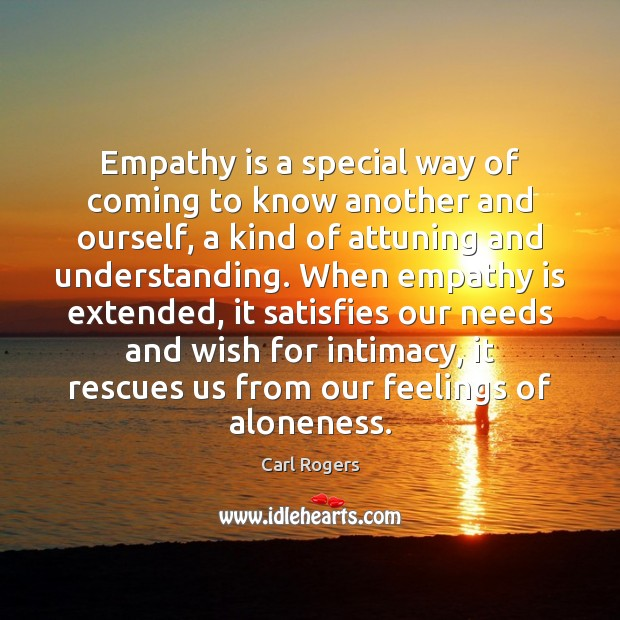 Empathy is a special way of coming to know another and ourself, Image