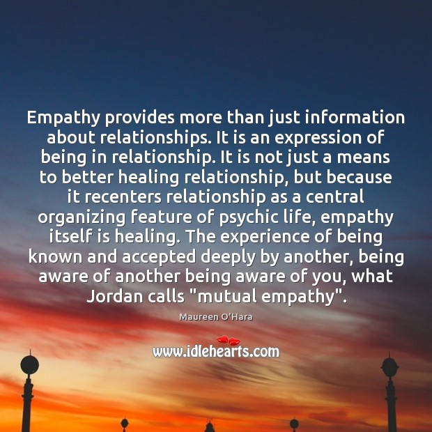 Image, Empathy provides more than just information about relationships. It is an expression