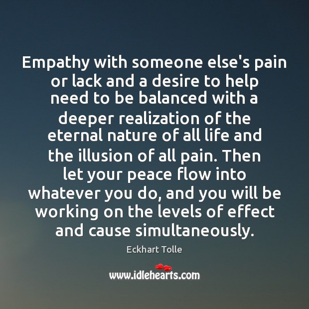 Empathy with someone else's pain or lack and a desire to help Image