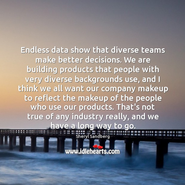 Endless data show that diverse teams make better decisions. We are building Image