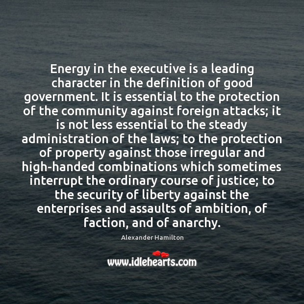 Image, Energy in the executive is a leading character in the definition of