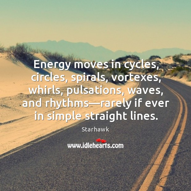 Image, Energy moves in cycles, circles, spirals, vortexes, whirls, pulsations, waves, and rhythms—