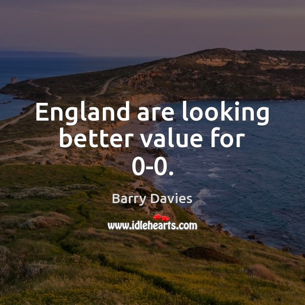 Image, England are looking better value for 0-0.