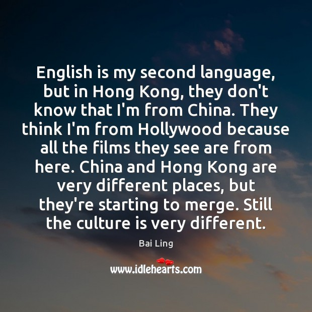 English is my second language, but in Hong Kong, they don't know Image