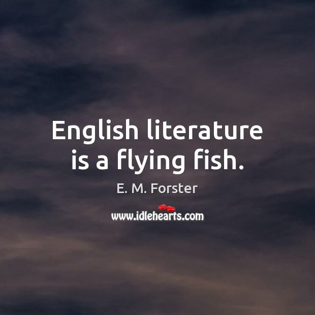 English literature is a flying fish. Image