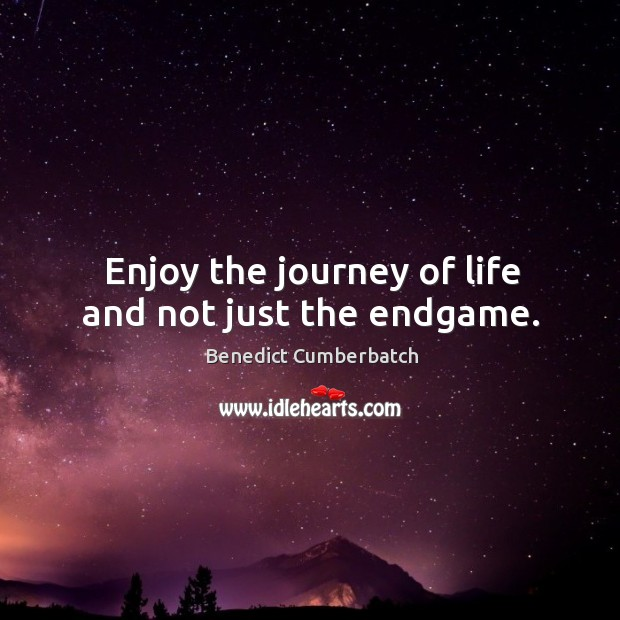 Image, Enjoy the journey of life and not just the endgame.