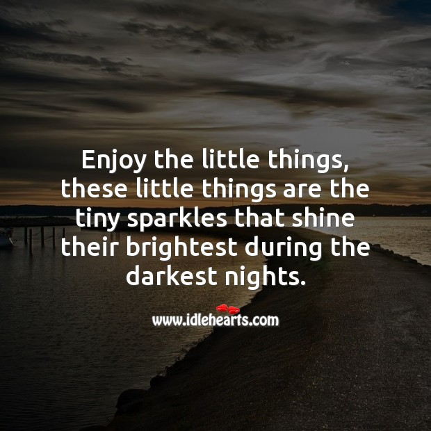Enjoy the little things. Motivational Quotes Image