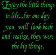 Enjoy the little things in life…