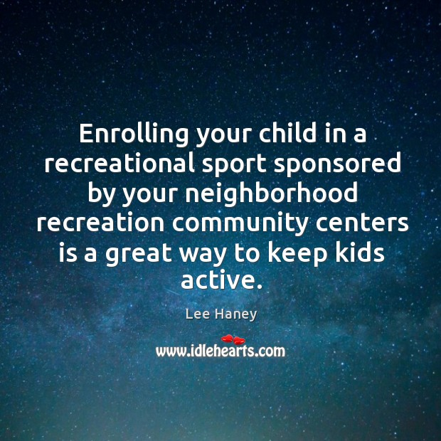 Image, Enrolling your child in a recreational sport sponsored