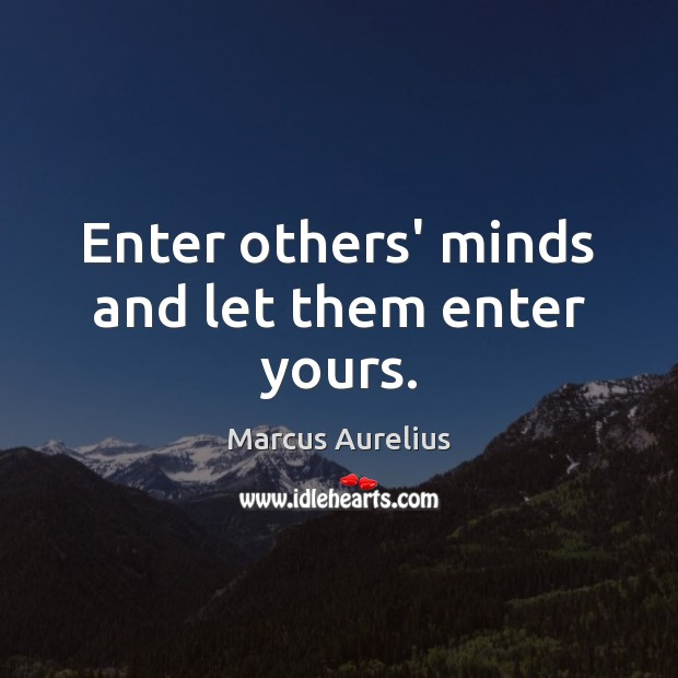 Image, Enter others' minds and let them enter yours.