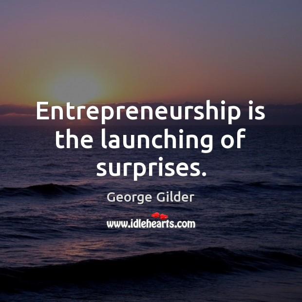 Entrepreneurship is the launching of surprises. Entrepreneurship Quotes Image