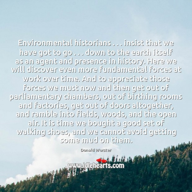 Image, Environmental historians . . . insist that we have got to go . . . down to the