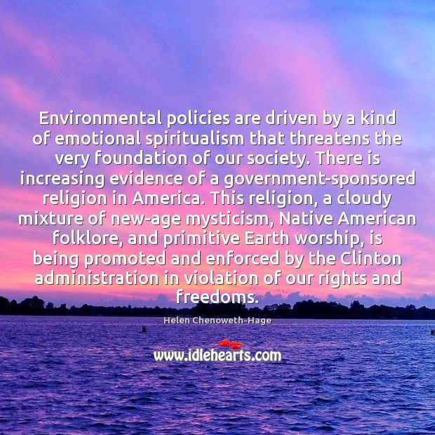 Environmental policies are driven by a kind of emotional spiritualism that threatens Image