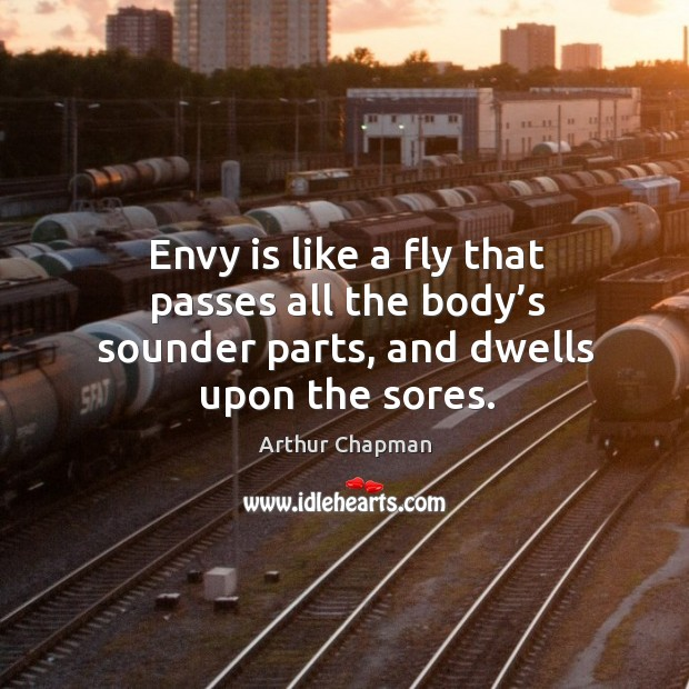 Image, Envy is like a fly that passes all the body's sounder parts, and dwells upon the sores.