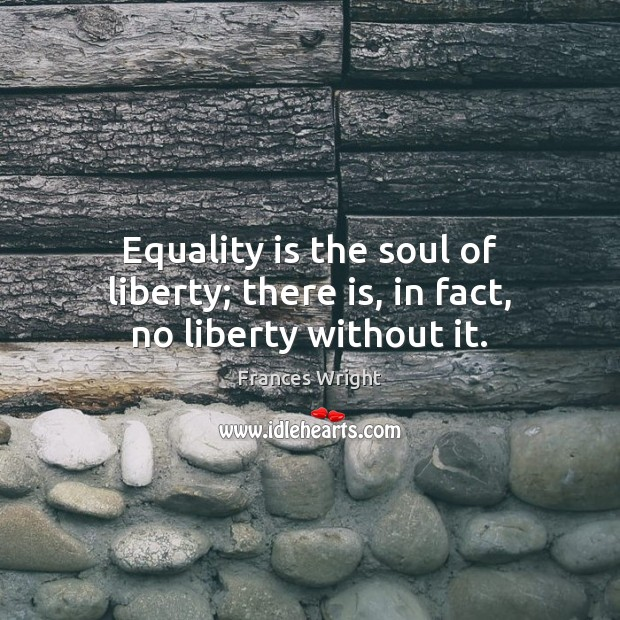 Equality is the soul of liberty; there is, in fact, no liberty without it. Equality Quotes Image
