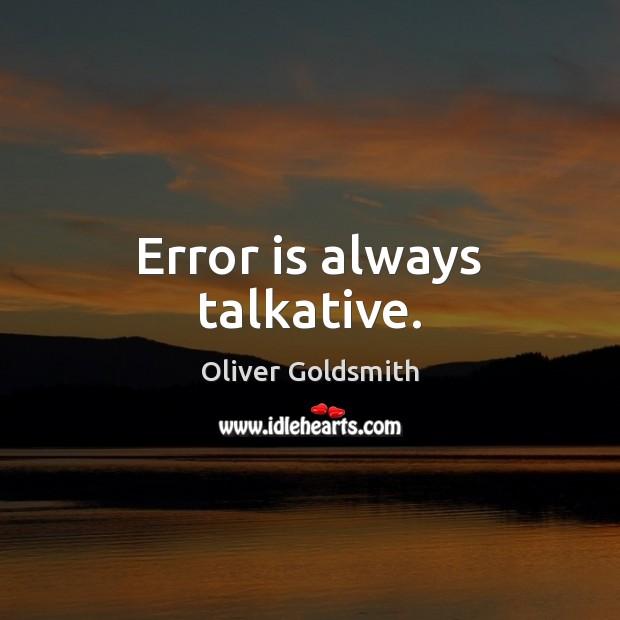 Error is always talkative. Image