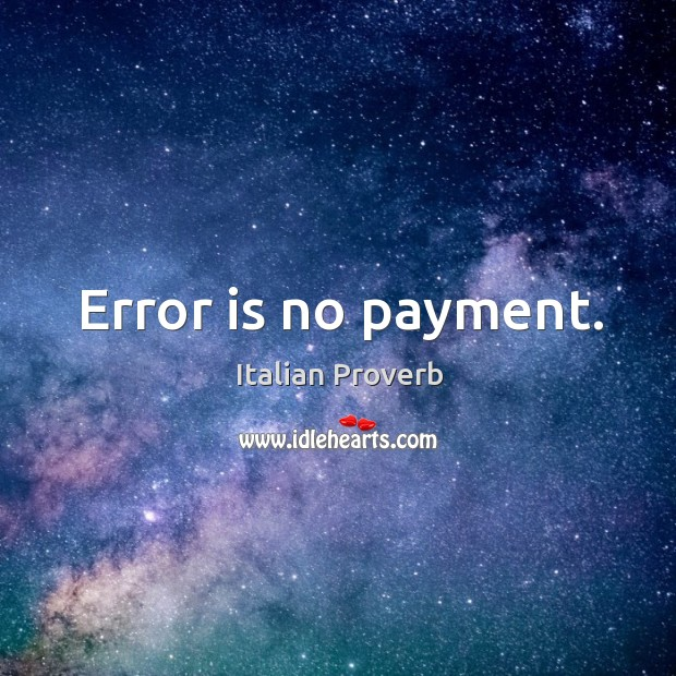 Image, Error is no payment.