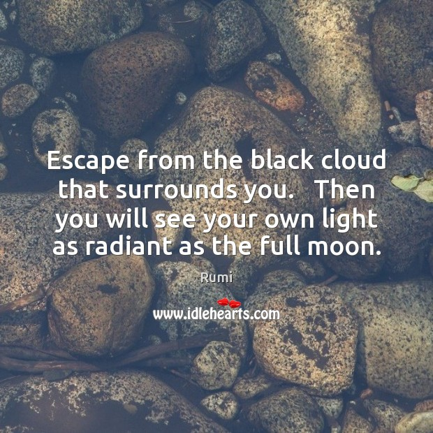 Escape from the black cloud that surrounds you.   Then you will see Image