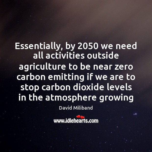 Essentially, by 2050 we need all activities outside agriculture to be near zero Image