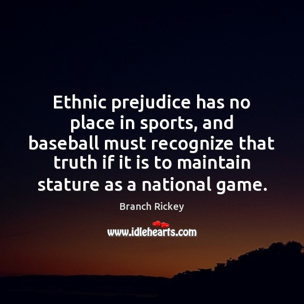 Ethnic prejudice has no place in sports, and baseball must recognize that Image