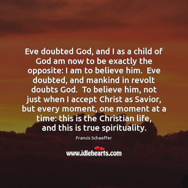 Eve doubted God, and I as a child of God am now Image