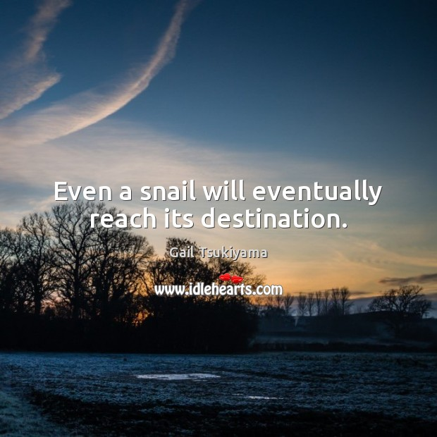 Even a snail will eventually reach its destination. Image