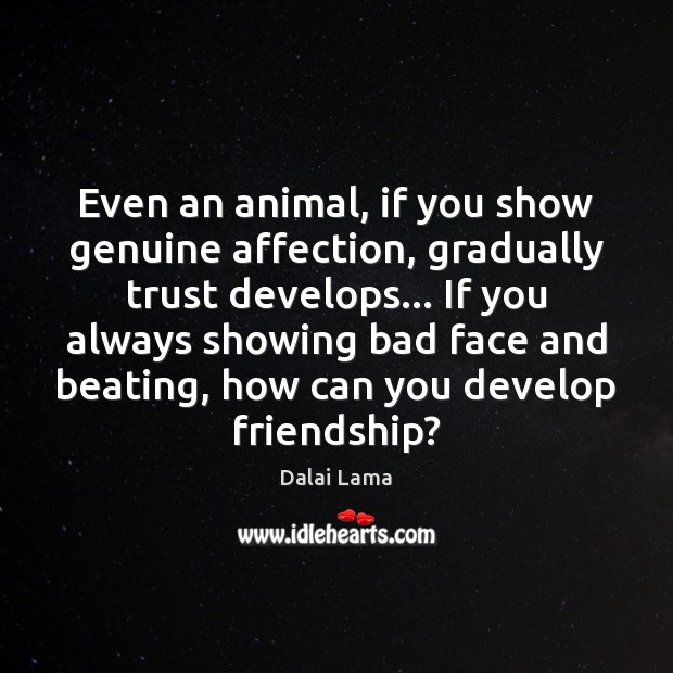 Image, Even an animal, if you show genuine affection, gradually trust develops… If