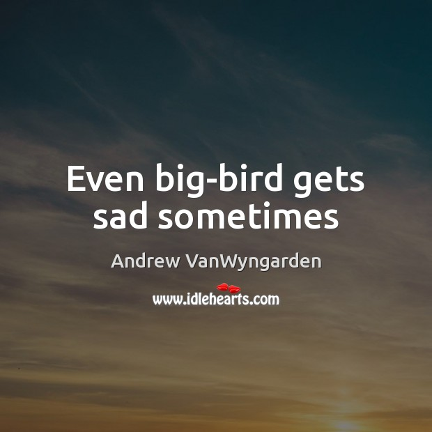 Image, Even big-bird gets sad sometimes