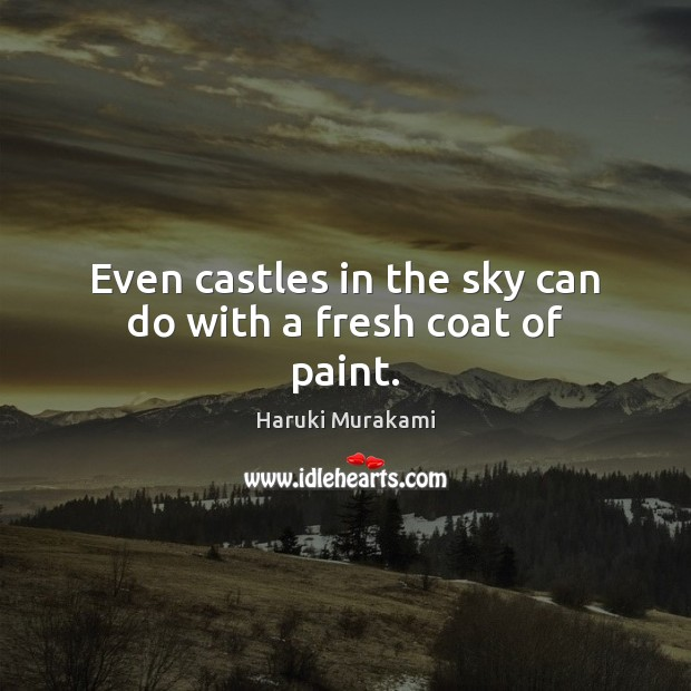 Image, Even castles in the sky can do with a fresh coat of paint.