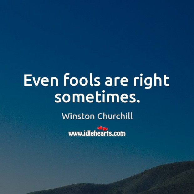 Image, Even fools are right sometimes.