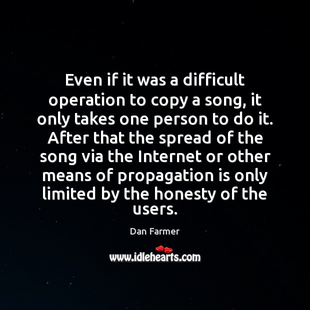 Even if it was a difficult operation to copy a song, it Image