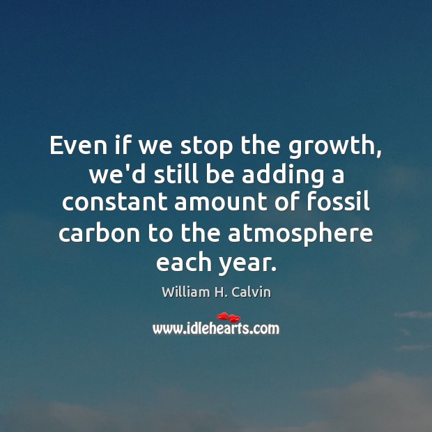 Image, Even if we stop the growth, we'd still be adding a constant