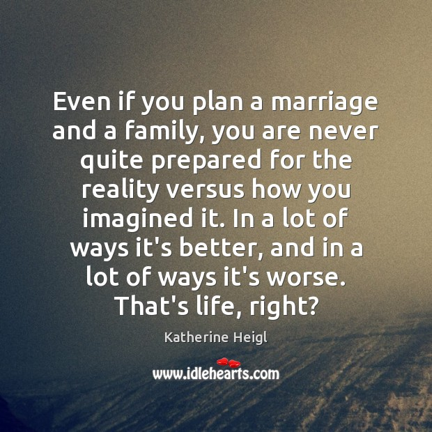 Even if you plan a marriage and a family, you are never Plan Quotes Image