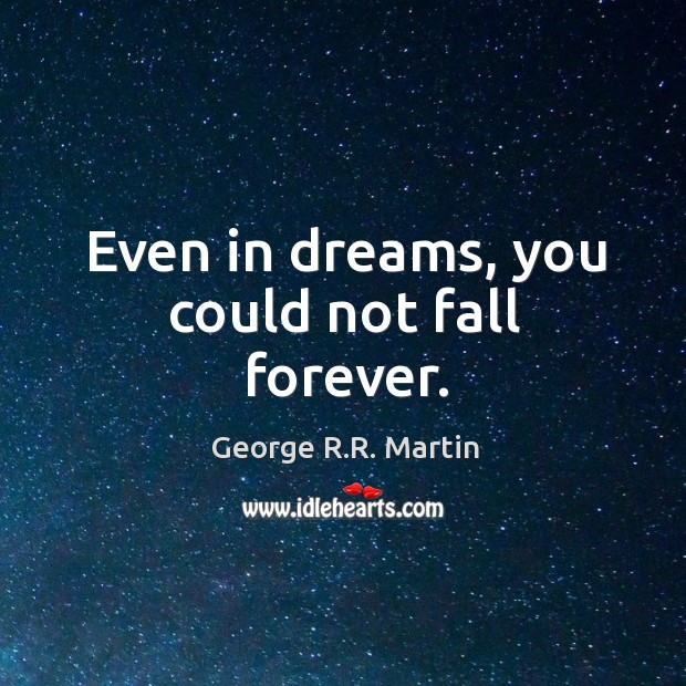 Even in dreams, you could not fall forever. Image