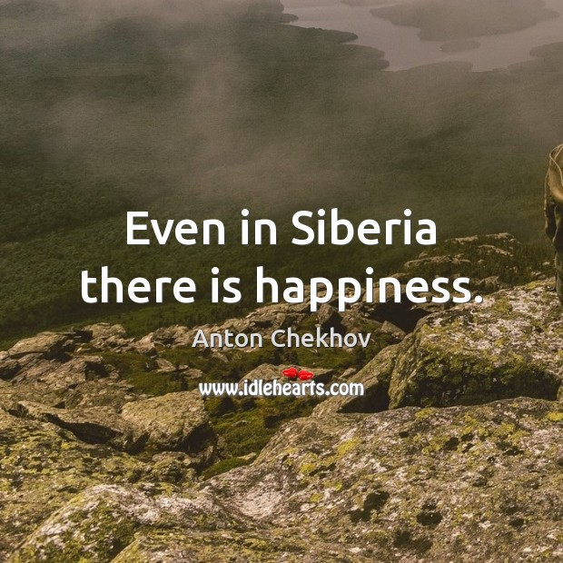 Even in Siberia there is happiness. Image