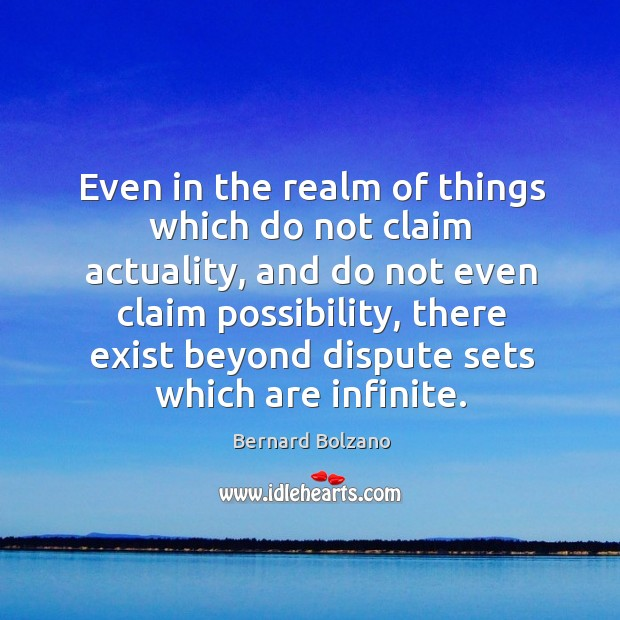 Image, Even in the realm of things which do not claim actuality, and