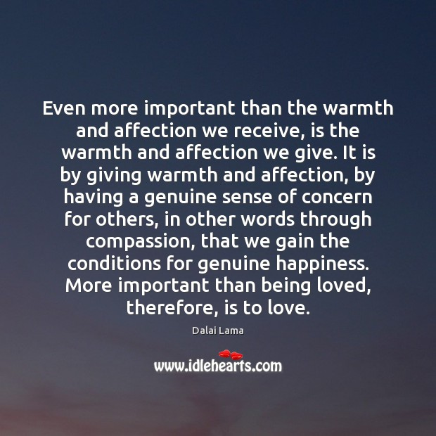 Even more important than the warmth and affection we receive, is the Image