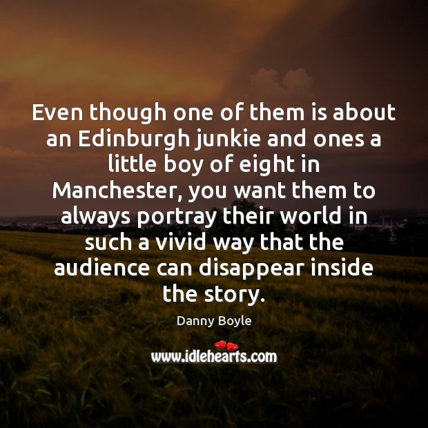 Image, Even though one of them is about an Edinburgh junkie and ones