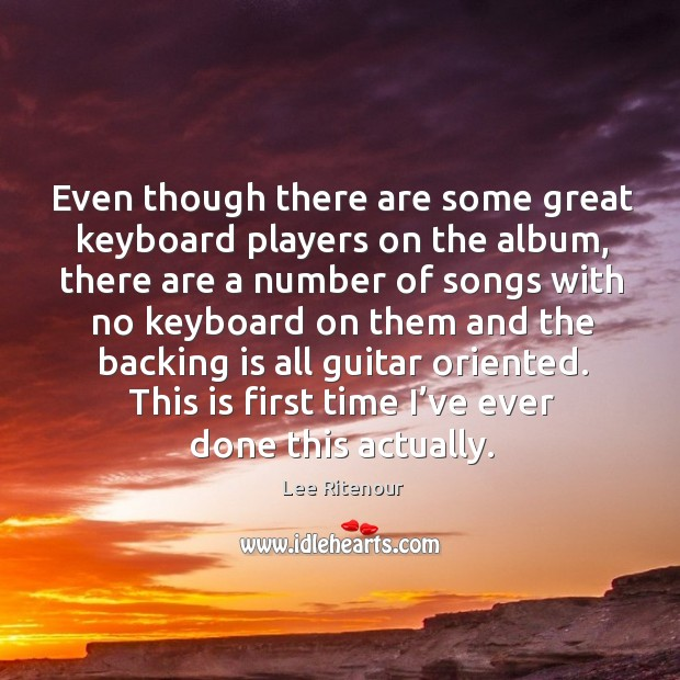 Even though there are some great keyboard players on the album, there are a Image