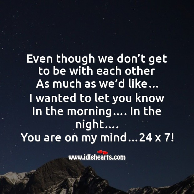 Even though we don't get to be with each other Friendship Day Messages Image